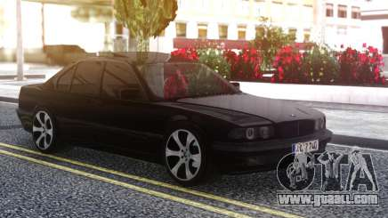 BMW 740i E38 BLACK for GTA San Andreas
