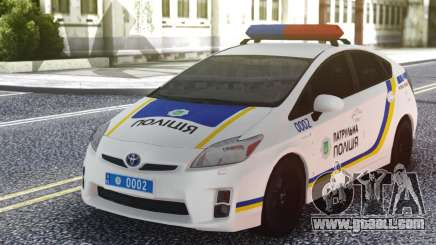 Toyota Prius Patrol Police Of Ukraine for GTA San Andreas
