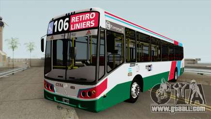Linea 106 Todobus Pompeya II Agrale MT17 Interno for GTA San Andreas