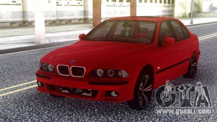 BMW E39 Stock Red for GTA San Andreas
