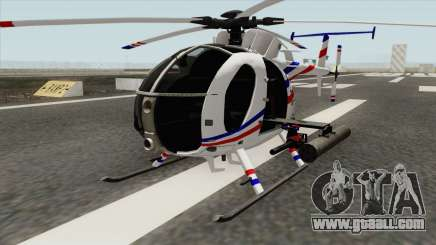 AH-6J Little Bird GBS News Chopper for GTA San Andreas