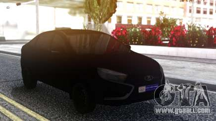 Lada Vesta All Black for GTA San Andreas