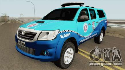 Toyota Hilux 2014 (BEPTUR PMBA) for GTA San Andreas