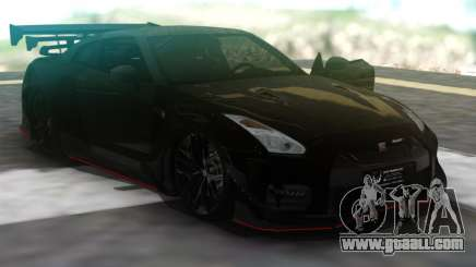 Nissan GT-R R35 Black for GTA San Andreas
