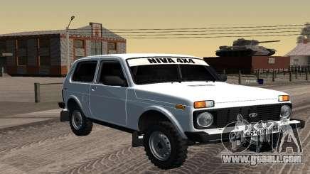 A White VAZ 2121 Niva for GTA San Andreas