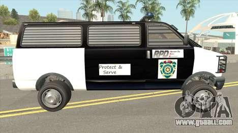 Declasse Burrito Police Transport R.P.D for GTA San Andreas