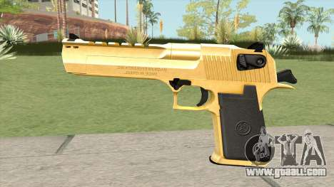 Desert Eagle Gold (HQ) for GTA San Andreas