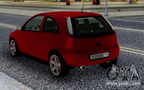 Opel Vauxhall Corsa 1.8 for GTA San Andreas