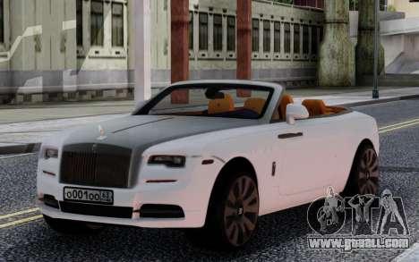 Rolls-Royce Dawn 2017 for GTA San Andreas