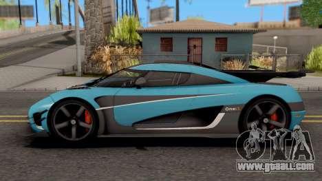 Koenigsegg One:1 2015 for GTA San Andreas