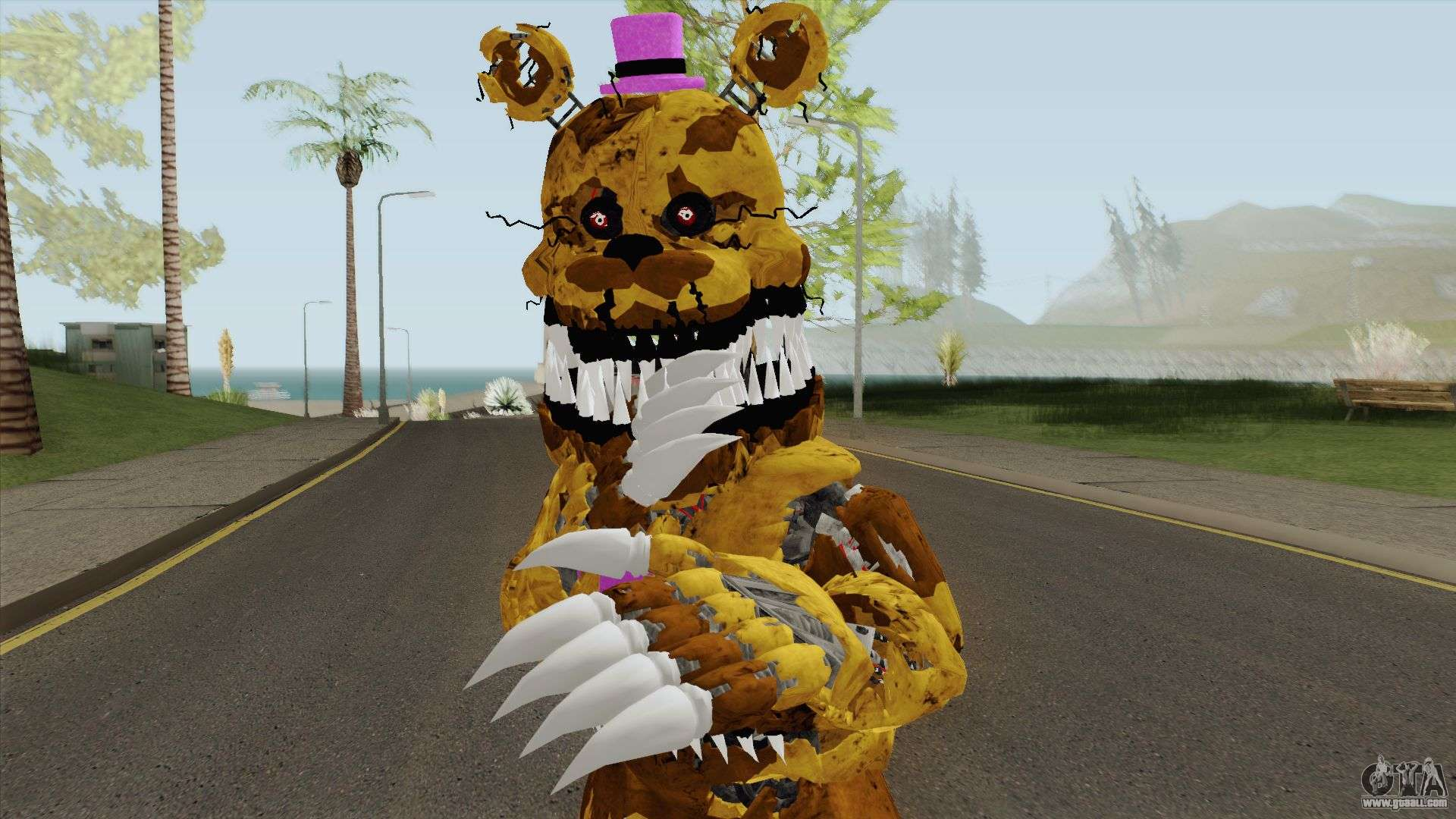 Nightmare Fredbear V3 for GTA San Andreas