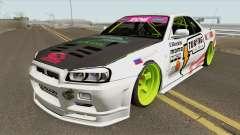 Nissan Skyline R34 GT-R (MTA Tokyo Drift) for GTA San Andreas