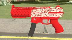 Submachine Gun MK2 (Red Woodlums) for GTA San Andreas