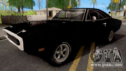 Dodge Charger 1970 Black for GTA San Andreas