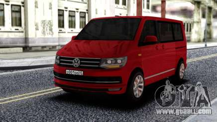 Volkswagen Caravelle Red for GTA San Andreas