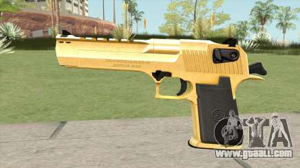 Desert Eagle Gold (HQ) for GTA San Andreas