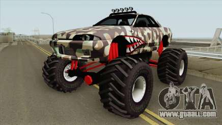 Nissan Skyline R32 Monster Truck Camo Shark for GTA San Andreas
