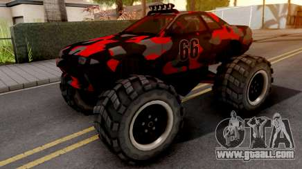 Nissan Skyline R32 Monster Truck Camo v2 for GTA San Andreas
