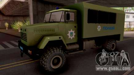 KrAZ-6322 Police Ukraine for GTA San Andreas