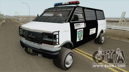 Declasse Burrito Police Transport R.P.D IVF for GTA San Andreas