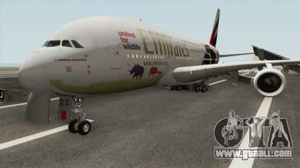 Airbus A380-800 (United For Wildlife Livery) for GTA San Andreas