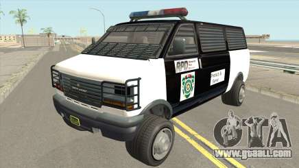 Declasse Burrito Police Transport R.P.D for GTA San Andreas