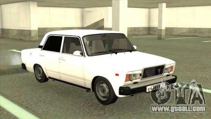 VAZ 2107 Sedan White for GTA San Andreas