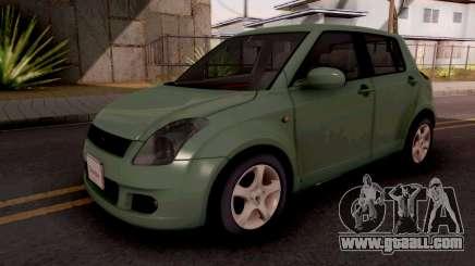 Suzuki Swift Green for GTA San Andreas