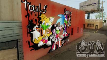 Sonic Wall Graffiti for GTA San Andreas
