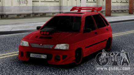 Kia Pride Tuning Red for GTA San Andreas