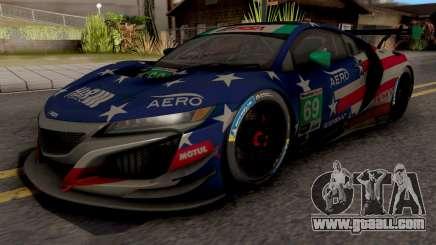 Acura NSX R3 2018 for GTA San Andreas
