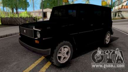 Benefactor Dubsta Black for GTA San Andreas