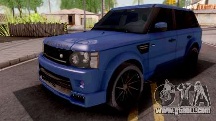 Land Rover Range Rover Sport Blue for GTA San Andreas