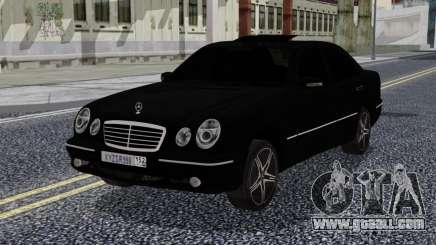 Mercedes-Benz W210 E55 Black for GTA San Andreas