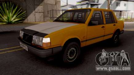 Volvo 460 Yellow Stock for GTA San Andreas