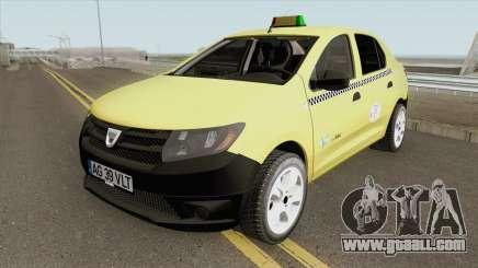 Dacia Logan 2 - Taxi Valentin 2016 for GTA San Andreas