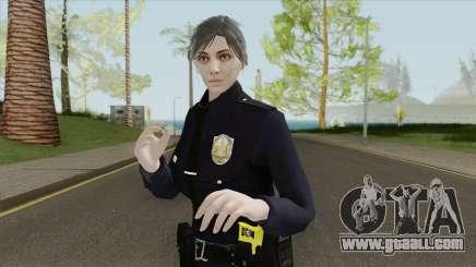 GTA Online Random Skin 17 Female LSPD Officer for GTA San Andreas