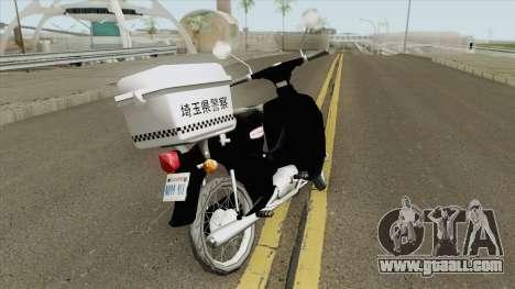 Honda Super Cub Police Version A for GTA San Andreas