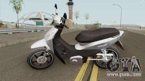Honda Biz 125CC - Reduzida for GTA San Andreas