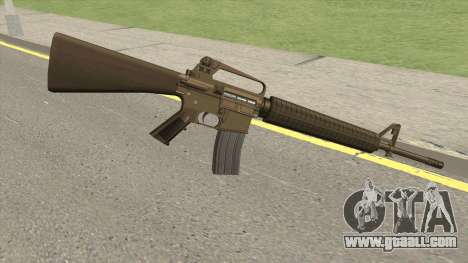 M16A2 Full Desert Camo (Stock Mag) for GTA San Andreas