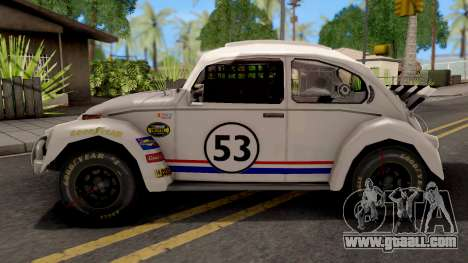 Volkswagen Herbie Nascar for GTA San Andreas