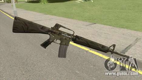 M16A2 Full Jungle Camo (Stock Mag) for GTA San Andreas