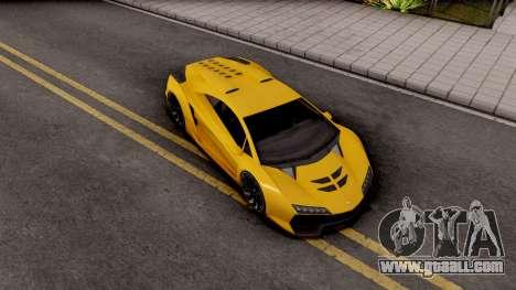 Pegassi Zentorno GTA 5 for GTA San Andreas