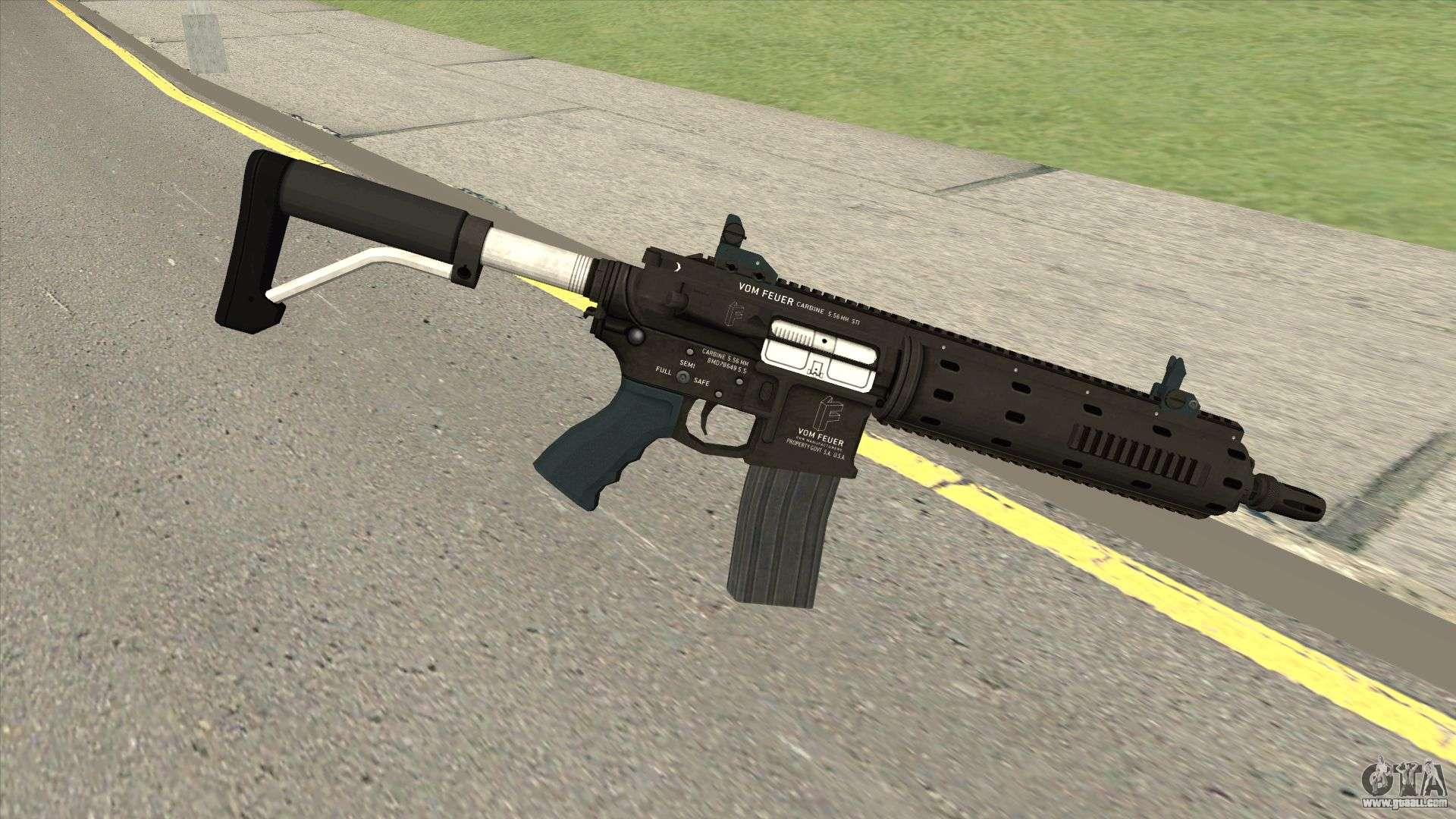 Vom Feuer Carbine Rifle GTA V (Default Clip) For GTA San