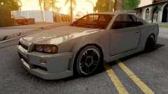Nissan Skyline R34 Grey for GTA San Andreas