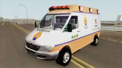 Mercedes-Benz Sprinter Ambulance (Defesa Civil) for GTA San Andreas