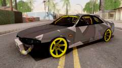 Nissan Skyline R33 Drift Camo v3 for GTA San Andreas