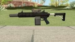 Carbine Rifle V1 Silenced, Tactical, Flashlight for GTA San Andreas
