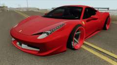 Ferrari 458 Italia HQ for GTA San Andreas
