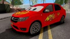 Dacia Logan 2 2016 Lightning Mcqueen v1 for GTA San Andreas